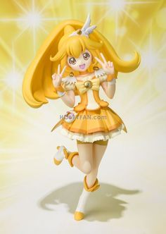 "Smile Precure ""Cure Peace"" Anime Figures"