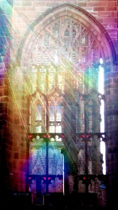 Coloured light refracted at Coventry, peace, colour window