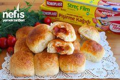 Yumuşacık Kahvaltı Poğaçası Hot Dog Buns, Hot Dogs, Hamburger, Bread, Recipes, Food, Allah, Recipe, Turkish Recipes
