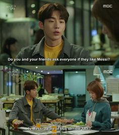 """""""Do you like messi?"""" The most iconic line istg Weightlifting Fairy Kim Bok Joo Funny, Weightlifting Kim Bok Joo, Korean Drama Funny, Korean Drama Quotes, Do You Like Messi, Weighlifting Fairy Kim Bok Joo, Kim Book, Lee Sung Kyung, Kdrama Memes"""
