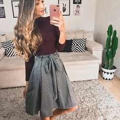 Skirt outfits pinterest cute