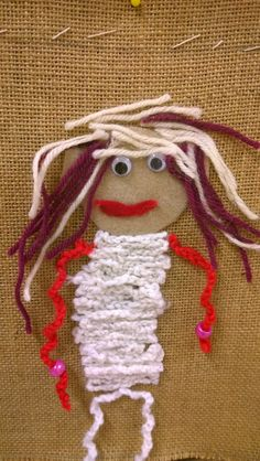 Open kässä ja kuvis Just Kidding, Art For Kids, Our Wedding, Little Girls, Hand Weaving, Crochet Necklace, Rabbit, How To Make, Crafts