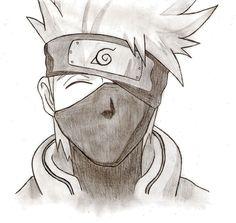 How to draw kakashi Kakashi Drawing, Naruto Sketch Drawing, Drawing Anime Hands, Anime Character Drawing, Anime Drawings Sketches, Anime Sketch, Cartoon Drawings, Cool Drawings, Hand Drawings