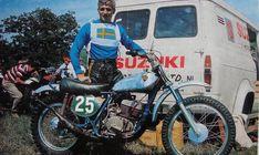 Olle Petersson with his 1968 (RH68) Works Suzuki