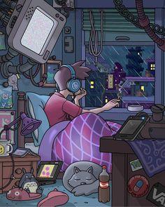 Anime Backgrounds Wallpapers, Anime Scenery Wallpaper, Cartoon Wallpaper, Aesthetic Drawing, Aesthetic Art, Bedroom Drawing, Environment Concept Art, Art Music, Cartoon Art