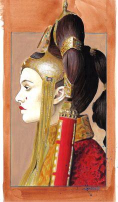 Padme Amidala painting by sarahwilkinson.deviantart.com