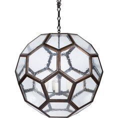Pre-owned Honeycomb Pendant Lamp ($3,000) ❤ liked on Polyvore featuring home, lighting, ceiling lights, clear, t5 light and oversized pendant light