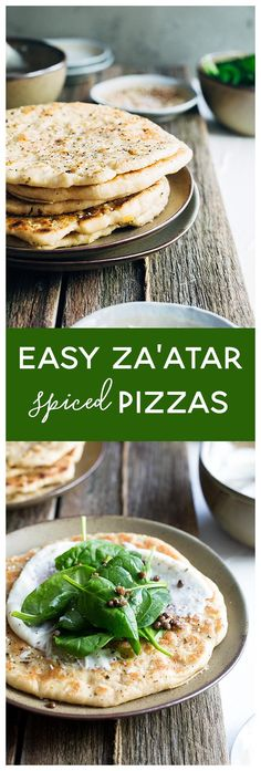 These easy za'atar spiced pizzas are a flavourful yet light alternative to regular pizzas. Traditionally a breakfast food, these little guys are laden with spices and your favourite healthy toppings. Perfect for brunch, lunch or a light dinner.