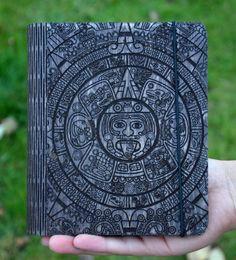 Wooden notebook Mayan calendar Journal Sketchbook Notepad Diary Christmas…