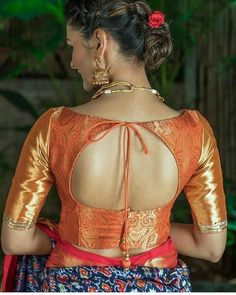 Trendy cold shoulder sari blouse Discover more about . Choli Designs, Pattu Saree Blouse Designs, Blouse Designs Silk, Designer Blouse Patterns, Bridal Blouse Designs, Blouse Back Neck Designs, Patch Work Blouse Designs, Lehenga Blouse, Pattern Blouses For Sarees