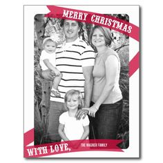 Wrapped With Love Christmas Photo Card Postcard