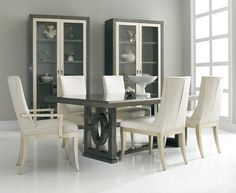 View all of the Hickory White custom inspiration settings - unleash your imagination Dining Room Table, Dining Chairs, Hickory White, China Cabinet Display, Quality Furniture, Side Chairs, Home Furnishings, Design, Home Decor