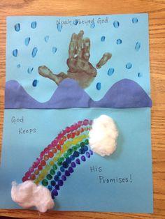 crafts on noah's ark | Noah's Ark and Rainbow