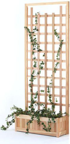 Planter Box Trellis Panel with 2 Piece