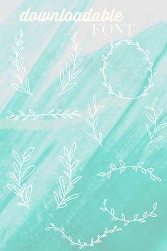 Blooming Borders // A downloadable font of vine borders // Treasures & Travels Blog