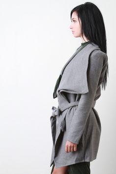 @modaonpoint Large Collar Fleece Coat