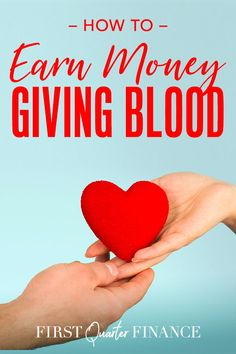 Want to donate blood for money? Here's how and where to donate blood for money and what each donation center that pays, pays. Extra Cash, Extra Money, Way To Make Money, How To Make, Blood Donation, Banks, Told You So, Learning, Frugal