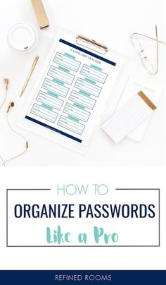 Passwords driving you crazy? Banish the frustration by learning about the 3 options for managing your passwords and choose the option that works best for you + snag a free password tracker printable set #passwordmanagement #passwordorganizing #passwordorganization #organizeandrefinechallenge #organizedigitallife Home Organization Hacks, Paper Organization, Organizing Tips, Free Password, Password Tracker, Good Passwords, Clutter Solutions, Organized Mom, Learning