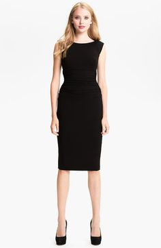 B44 Dressed by Bailey 44 Ruched Cap Sleeve Sheath Dress Lil Black Dress 1aff5e0cc