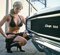 Hot Muscle Car Babe