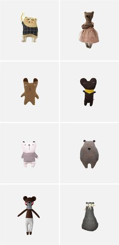 The Cutest (and Coolest) Bear Softies for Kids http://petitandsmall.com/cutest-coolest-bear-softies-kids/