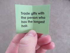 Christmas Party Game idea Finally something other than plain, old White Elephant! Trade gifts with... the person who has ...