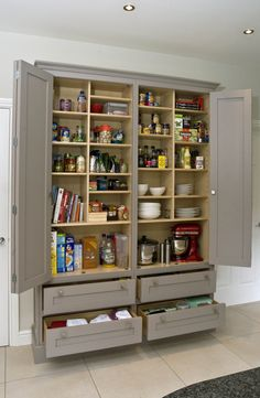 Custom Built In Pantry With Rollout Shelves Craftsman Kitchen
