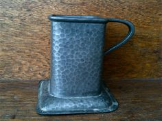 Antique English Pewter Sauce Bottle Holder circa 1950's Purchase in store here http://www.europeanvintageemporium.com/product/antique-english-pewter-sauce-bottle-holder-circa-1950s/