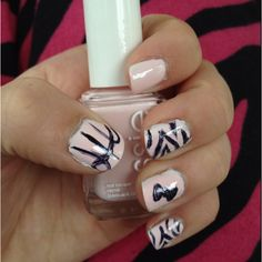 took lots of time & concentration, but finally got zebra & basketball nails!!