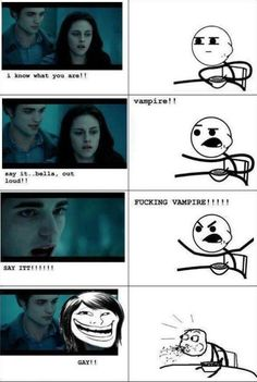I love twilight but this is funny Twilight Saga Quotes, Twilight Jokes, Twilight Saga Series, Twilight Jacob, Twilight Edward, Twilight Book, Fanfic Twilight, Twilight Harry Potter, Vampire Diaries Memes