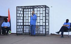 November 2007: Meets Colonel Gaddafi's son Saif al–Islam for the first time. He is reported to have had at least four further meetings with the Libyan, though Buckingham Palace insists he has only met him twice. Saif al-Islam is seen here behind bars in Libya in 2014 Picture: ISMAIL ZITOUNY/REUTERS