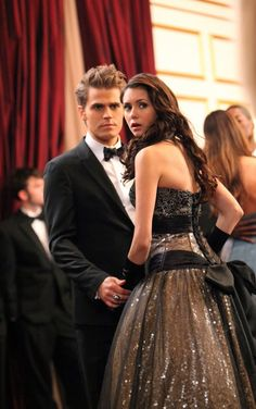 Still of Paul Wesley and Nina Dobrev in The Vampire Diaries