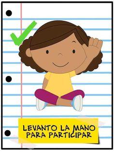 Normas de aula - Imagenes Educativas Teacher Hacks, Best Teacher, Baby Learning, Learning Activities, Teachers Room, English Activities, Classroom Door, Classroom Ideas, Classroom Language