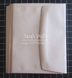 Envelope Scrapbook Album « Sarahs Ink Spot