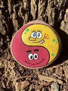Painted Rock Sponge Bob & Patrick #rockvisaliawithkindness