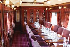 The Royal Scotsman train. What a lovely dining area.