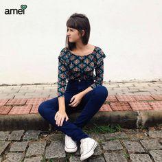 Ir além, ver novos horizontes  #lojaamei #hotpants #jeans #cropped #babado #viver #rua