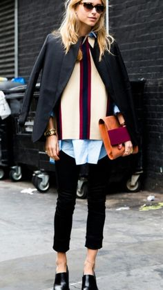 This lady knows how to layer!