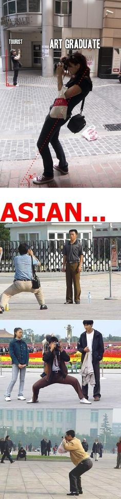 A arte de se tirar fotos, principalmente os Asiaticos