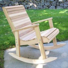 These free Adirondack chair plans will help you build a great looking chair in just a few hours, Build one yourself! Here are 18 adirondack chair diy Rocking Chair Plans, Wooden Rocking Chairs, Outdoor Rocking Chairs, Patio Chairs, Adirondack Chairs, Room Chairs, Dining Chairs, Beach Chairs, Outdoor Lounge