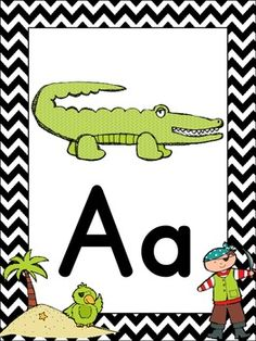 Pirate themed alphabet posters!   Zaner Bloser styled font   64 Alphabet Cards to choose from---