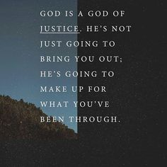 MORE THAN ENOUGH  God Is a Good Of Justice,  He's Not Just Going To Bring You Out; He's Going Make Up For What You've Been Through..❤️  #joelosteen   #joelosteenquotes   @joelosteen    #Regram via @osteenquotes) Just Go, You Got This, Joel Osteen, Scriptures, Bring It On, Inspirational Quotes, God, How To Make, Instagram