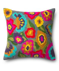 Love this Fuchsia & Turquoise Floral Throw Pillow on #zulily! #zulilyfinds