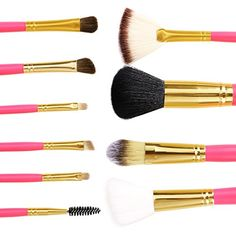 Amazon.com : Kissemoji(TM) Professional Core Makeup Brush 10 Pcs Set Foundation Blending Blush Eyeliner Powder Brush : Beauty