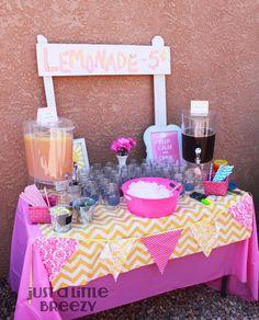 Pink Lemonade Party- lemonade stand