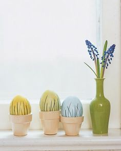 """See the """"Dyed Eggs with Grass Appliques"""" in our Decorating Easter Eggs gallery"""