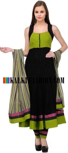 Buy Online from the link below. We ship worldwide (Free Shipping over US$100)  http://www.kalkifashion.com/black-embroidered-anarkali-suit-set-10604.html