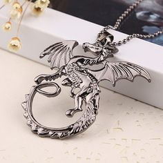 Of Thrones Targaryen Dragon Necklace Silver Pendant Types