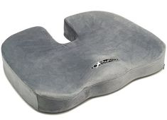 Brimma BE Well Seat Cushion - Premium Orthopedic Memory Foam (Gray) - Comfort Chair Pillow for Lower Back Pain, Coccyx, Tailbone, Lumbar Support, Sciatica