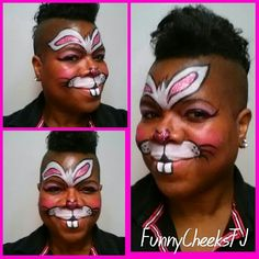 Easter Bunny Face Paint Tutorial Rabbit Face Paint For Kids